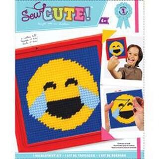 Emoji Happy Tears - Sew Cute! Needlepoint Kit