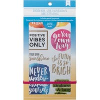 "American Crafts Planner Stickers 12-Page Book 4.75""X9""-Inspirational Life"