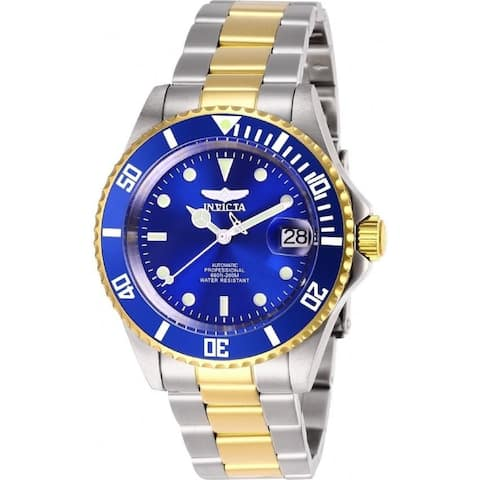 Invicta Men's 28662 'Pro Diver' Invicta Connection Automatic Gold-Tone and Silver Stainless Steel Watch - Multi