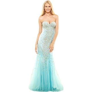 Terani Couture Strapless Prom Formal Dress