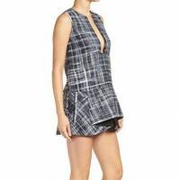 Kendall + Kylie Womens Medium Split Neck Mini A-Line Dress