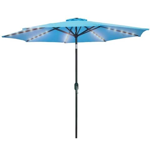 9 FT Patio Umbrella with LED Lights