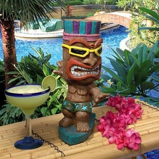 Kahuna Tiki Surfer Dude Statue DESIGN TOSCANO tiki statue outdoor tiki statue