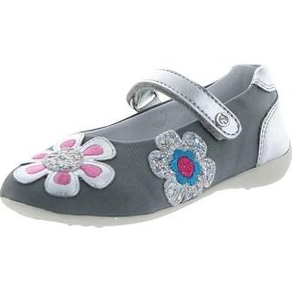 Naturino Girls 3658 Casual Flower Flats Shoes - cordura grigio