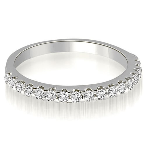 0.30 cttw. 14K White Gold Classic Round Cut Diamond Wedding Band