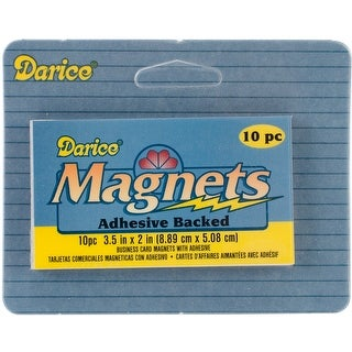 "Adhesive Magnetic Sheets-2""X3.5"" 10/Pkg"
