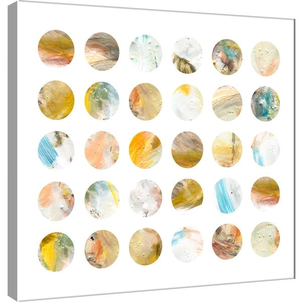 """PTM Images 9-101119 PTM Canvas Collection 12"""" x 12"""" - """"Circle Grid B"""" Giclee Abstract Art Print on Canvas"""