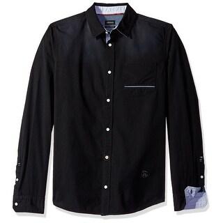 Buffalo David Bitton NEW Black Mens Size Large L Button Down Shirt