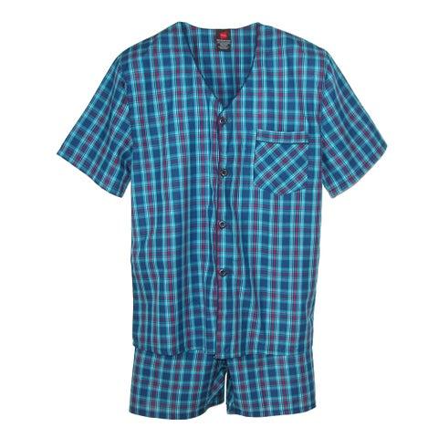 Hanes Men's Short Sleeve Short Leg Pajama Set