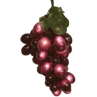 Wine Lovers Purplish Burgundy Grape Christmas Light Set - 5 Clusters 100 Lights - Purple