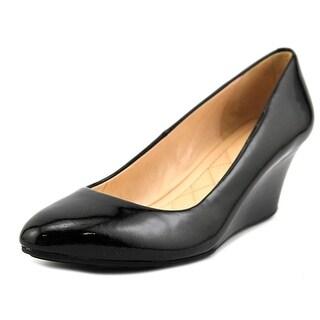 Cole Haan Darlene Women Open Toe Synthetic Black Wedge Heel