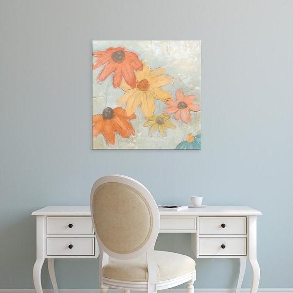 Easy Art Prints June Erica Vess's 'Floral Fresco II' Premium Canvas Art