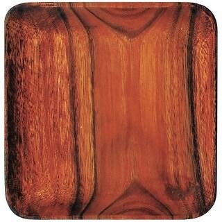 "Pacific Merchants K0051 Acacia Wood Square Plate, 7"" x 7"" x 0.75"""