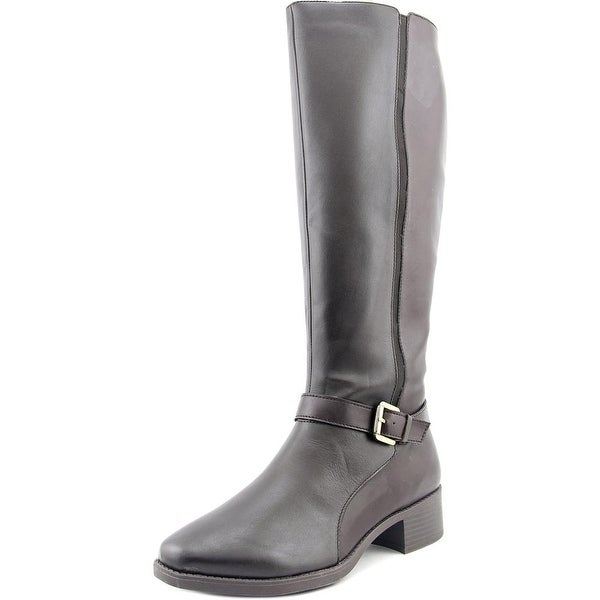 Easy Spirit Nadette Women Round Toe Leather Brown Knee High Boot