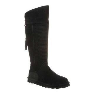 Bearpaw Women's Tracy Knee High Boot Black II Cow Suede