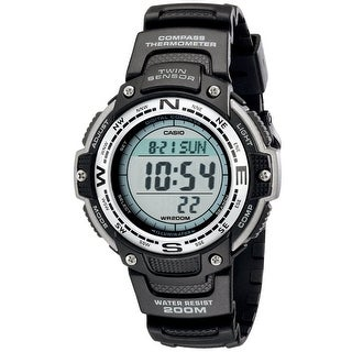 Casio Men's Twin Sensor Digital Black Watch
