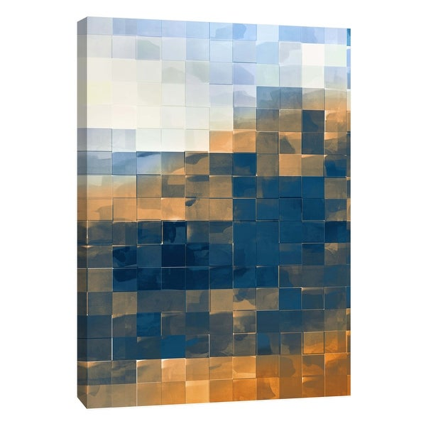 "PTM Images 9-105766 PTM Canvas Collection 10"" x 8"" - ""Gridded Watercolor Landscape C"" Giclee Abstract Art Print on Canvas"