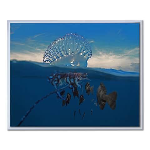Ready2HangArt 'Jellyfish' Framed Canvas Wall Art