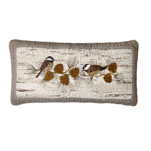 Donna Sharp Birch Forest Chickadee Decorative Pillow