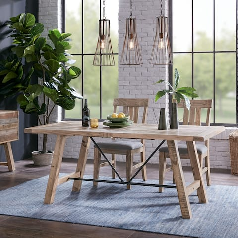 "Carbon Loft Dean Natural Dining Table - Oak - 72""w x 36""d x 30""h"