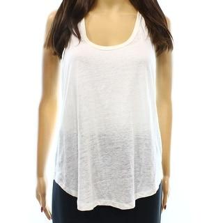Joie NEW White Women's Size XS Burnout Scoop-Neck Kylie Linen Tank Top
