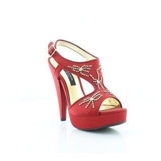 Nina Amp It Up Women's Heels Red Rouge Luster