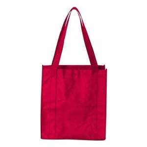 Non-Woven Classic Shopping Bag - Red - One Size