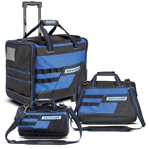 """Vaughan 3 Piece Tool Bag Set, 18"""" Roller, 16"""" & 13"""" Wide Mouth Bags - 240154"""