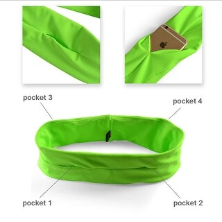 Image Running Belt Fitness Working Belt for Cycling Yoga Running Size: XL Green