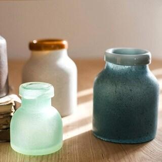 RusticReach Planet Hand Blown Glass Vase