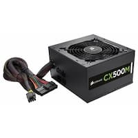 Corsair CX Series, CX500M, 500 Watt (500W), Semi Modular Power Supply, 80+ Bronze Certified