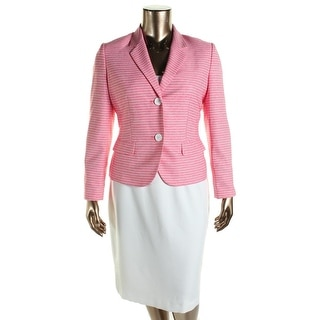 Le Suit Womens The Hamptons Striped 2PC Skirt Suit