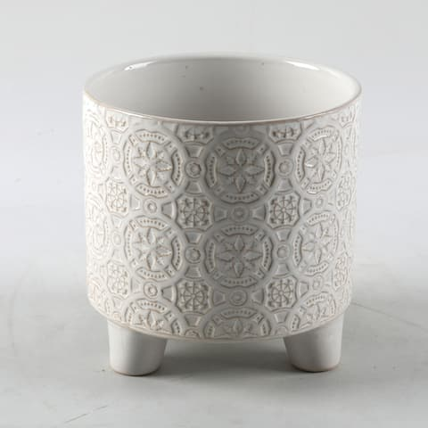 """6"""" Cathedral Footed Ceramic Planter"""