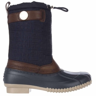 Tommy Hilfiger Womens Romea Fabric Round Toe Ankle Rainboots
