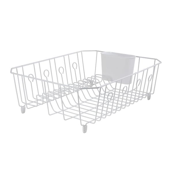 Rubbermaid 6032-AR WHT AntiMicrobial Dish Drainer White, Large