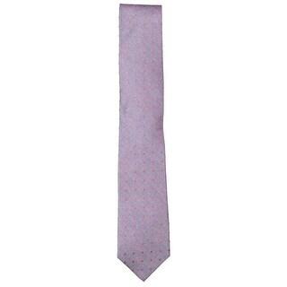 Men PURPLE Skinny Slim Zip Up Neck Tie