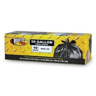 Ruffies Pro 1124920 Drumliner Trash Bags, 55 Gallon