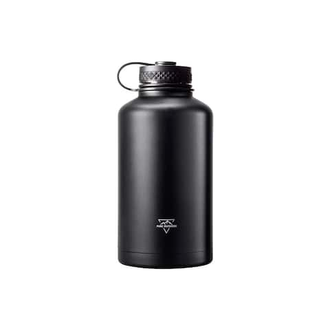 Monoprice Vacuum Sealed 64oz. Wide Mouth Growler - Black - Pure Outdoor