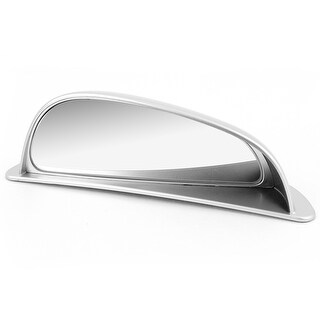 Unique Bargains Car Truck Adhesive Arch Wide Angle Left Blind Spot Mirror Silver Tone
