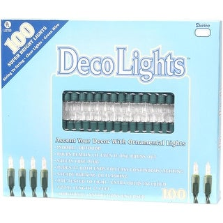 Clear Lights/Green Wire 100/Pkg