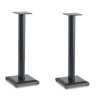 "Sanus NF30 Natural Series 30"" Bookshelf Speaker Stands - Pair (Black)"