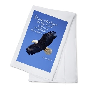 Isaiah 40:31 - Inspirational - Lantern Press Photography (100% Cotton Towel Absorbent)