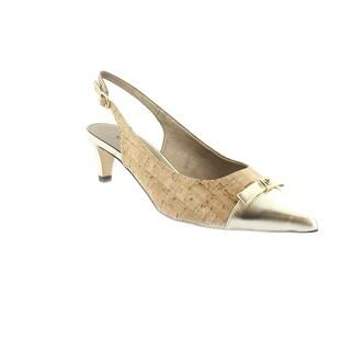 Order Online Womens Shoes Vaneli Bonnee Natural Cork/Platino Met Nappa