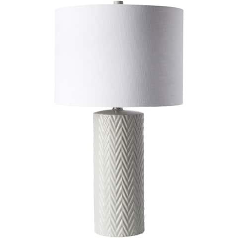 Carcassonne Table Lamp with Glazed Ceramic Base