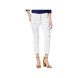 Dollhouse Womens Juniors Charley Skinny Jeans Denim Destroyed - 1
