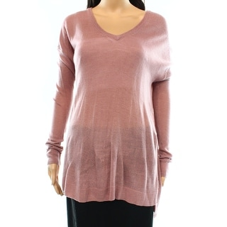 Marc New York NEW Pink Women's One Size V-Neck Solid Pullover Sweater