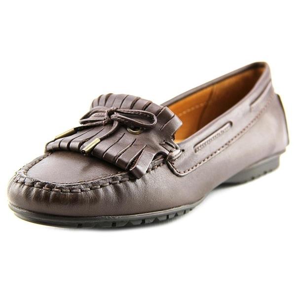 Sebago Meriden Moc Women Moc Toe Leather Brown Loafer