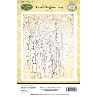 "JustRite Papercraft Cling Background Stamp 4.5""X5.75""-Crackle"