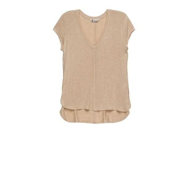 Bobeau Adley V-Neck High Low T-Shirt