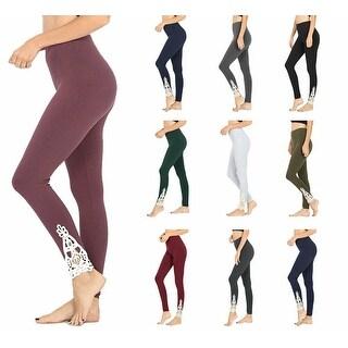 Link to NioBe Clothing Womens Full Length Cotton Lace Leggings - Ash Grey Similar Items in Pants